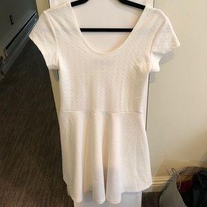 Stretchy white skater dress
